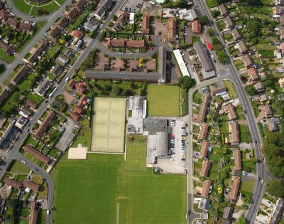 Aerial photograph of Culcheth Sports Club