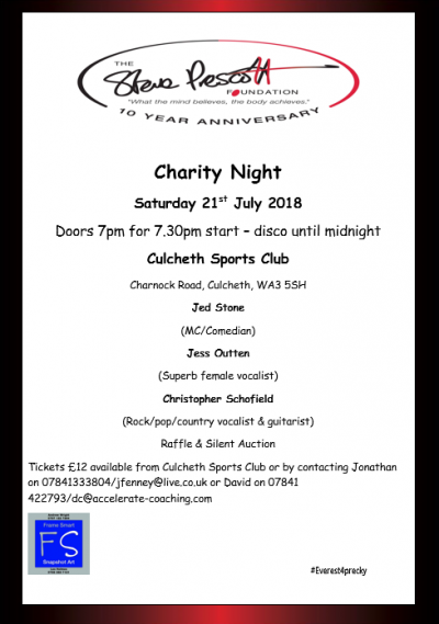 Steve Prescott Foundation Charity Night