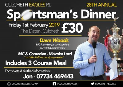 Culcheth Eagles RL Sportsman's Dinner
